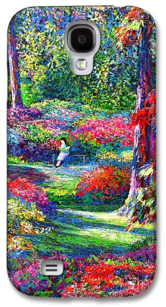 Girl Paintings Galaxy S4 Cases - To Read and Dream Galaxy S4 Case by Jane Small