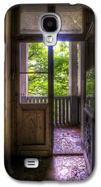 Haunted House Digital Art Galaxy S4 Cases - To the balcony  Galaxy S4 Case by Nathan Wright