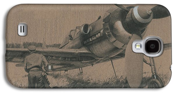 Aviator Drawings Galaxy S4 Cases - To the Victors Galaxy S4 Case by Wade Meyers