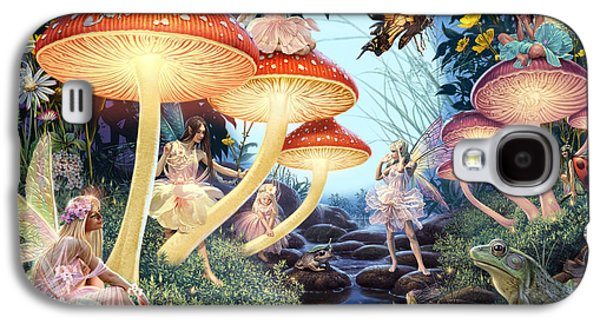 Mushroom Digital Art Galaxy S4 Cases - Toadstool Brook Galaxy S4 Case by Steve Read