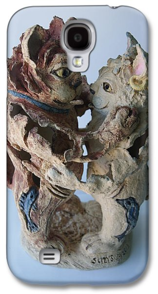 Designs Ceramics Galaxy S4 Cases - Todays  21st Century Cats Galaxy S4 Case by Susan  Brown    Slizys art signature name