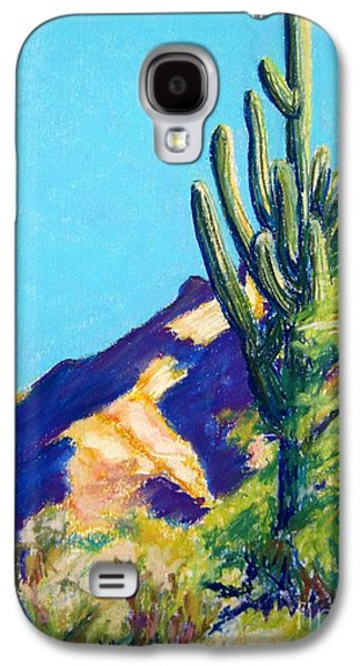 Landscape Acrylic Prints Pastels Galaxy S4 Cases - Tohono Chul Saguaro Galaxy S4 Case by Katrina West
