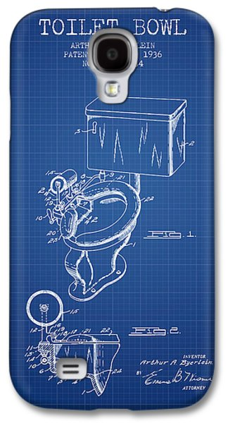 Toilet Bowl Patent From 1936 - Blueprint Galaxy S4 Case by Aged Pixel