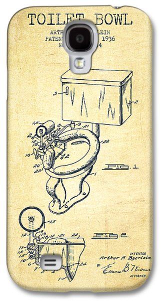 Toilet Bowl Patent From 1936 - Vintage Galaxy S4 Case by Aged Pixel