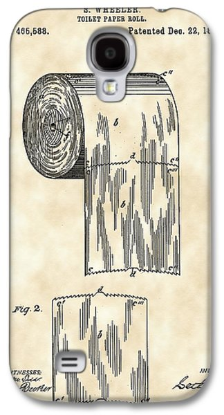 Furnishing Galaxy S4 Cases - Toilet Paper Roll Patent 1891 - Vintage Galaxy S4 Case by Stephen Younts