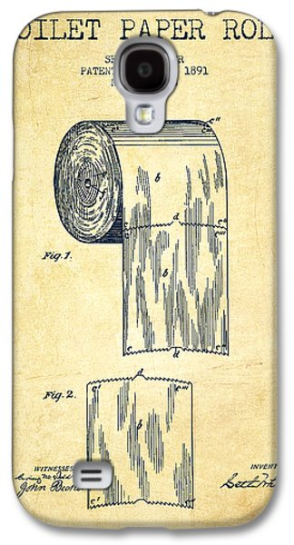 Technical Digital Art Galaxy S4 Cases - Toilet Paper Roll Patent Drawing From 1891 - Vintage Galaxy S4 Case by Aged Pixel
