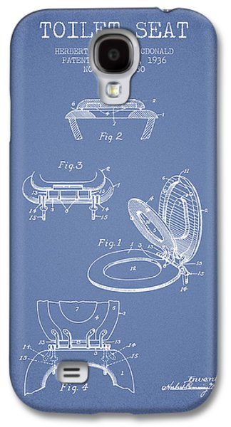 Toilet Seat Patent From 1936 - Light Blue Galaxy S4 Case by Aged Pixel