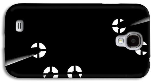 Poster Art Galaxy S4 Cases - Toit noir sur les colonnes Galaxy S4 Case by Jb Atelier