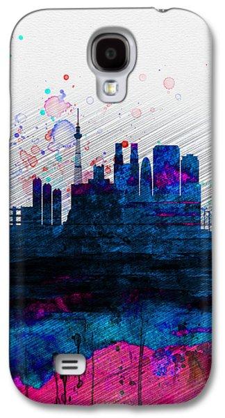 Tokyo Watercolor Skyline 2 Galaxy S4 Case by Naxart Studio