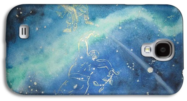 Monoceros Paintings Galaxy S4 Cases - Tolkien Hobbit  While Tom Whacked at Them Both Galaxy S4 Case by Glen McDonald