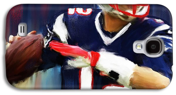 Rugby Paintings Galaxy S4 Cases - Tom Brady Galaxy S4 Case by Lourry Legarde