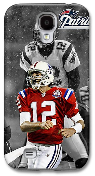 Football Galaxy S4 Cases - Tom Brady Patriots Galaxy S4 Case by Joe Hamilton