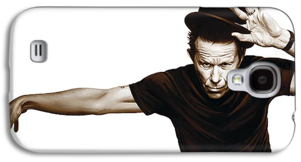 Singer Mixed Media Galaxy S4 Cases - Tom Waits Artwork  4 Galaxy S4 Case by Sheraz A