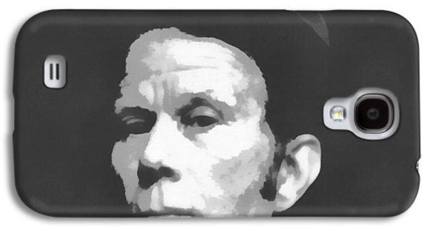 Avant Garde Mixed Media Galaxy S4 Cases - Tom Waits Charcoal Poster Galaxy S4 Case by Dan Sproul