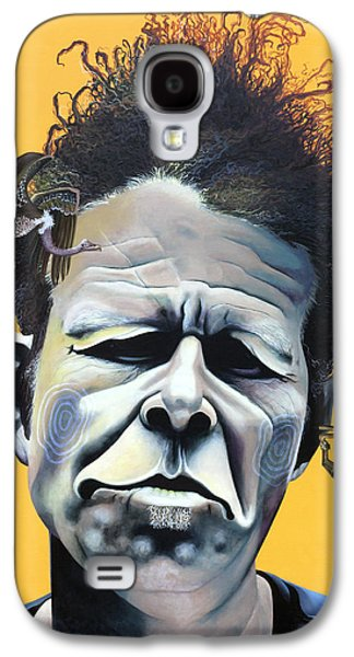 Sun Mixed Media Galaxy S4 Cases - Tom Waits - Hes Big In Japan Galaxy S4 Case by Kelly Jade King