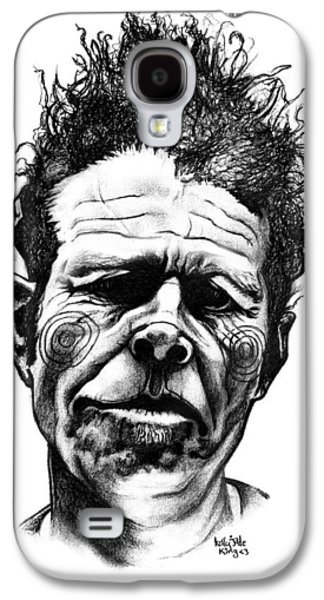 Impressionism Drawings Galaxy S4 Cases - Tom Waits Galaxy S4 Case by Kelly Jade King