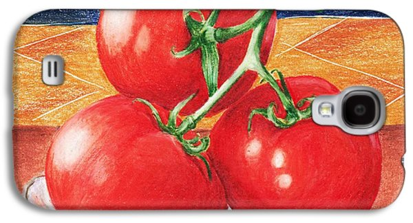 Healthy Galaxy S4 Cases - Tomatoes Galaxy S4 Case by Anastasiya Malakhova