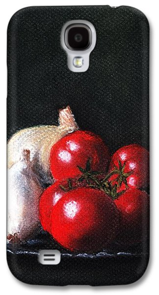 Food And Beverage Pastels Galaxy S4 Cases - Tomatoes and Onions Galaxy S4 Case by Anastasiya Malakhova