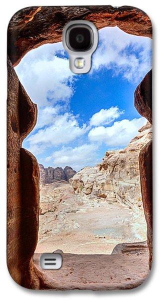 Petra - Jordan Galaxy S4 Cases - Tomb in Petra Galaxy S4 Case by Alexey Stiop