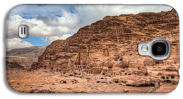 Petra - Jordan Galaxy S4 Cases - Tombs of Petra Galaxy S4 Case by Alexey Stiop