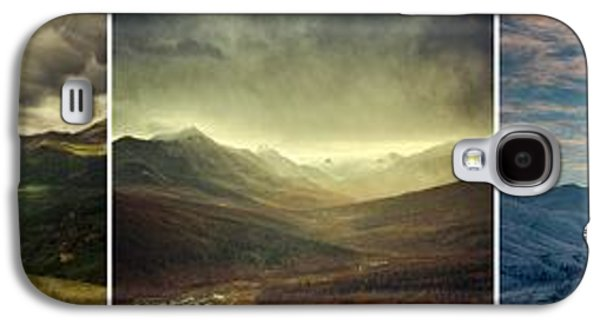 Landscapes Photographs Galaxy S4 Cases - Tombstone Range Seasons Galaxy S4 Case by Priska Wettstein