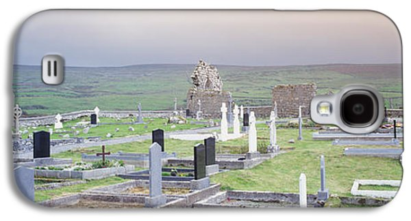 Megalith Galaxy S4 Cases - Tombstones In A Cemetery, Poulnabrone Galaxy S4 Case by Panoramic Images