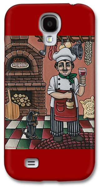Italian Wine Paintings Galaxy S4 Cases - Tommys Italian Kitchen Galaxy S4 Case by Victoria De Almeida