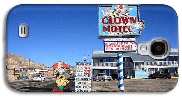 Juggling Galaxy S4 Cases - Tonopah Nevada - Clown Motel Galaxy S4 Case by Frank Romeo
