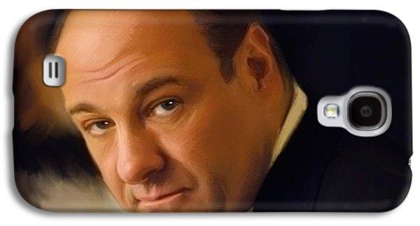 Soprano Galaxy S4 Cases - Tony Soprano Galaxy S4 Case by Paul Tagliamonte