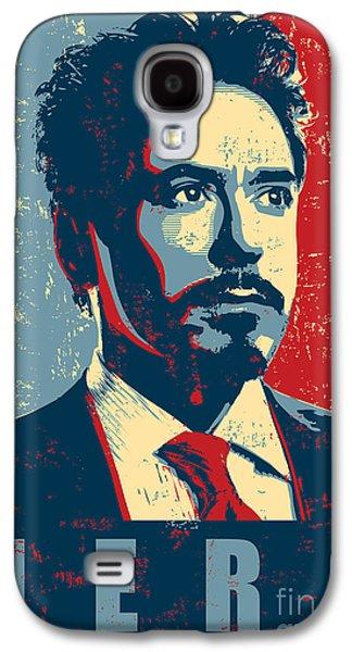 Iron Galaxy S4 Cases - Tony Stark Galaxy S4 Case by Caio Caldas