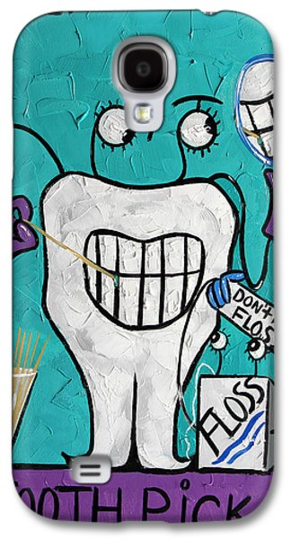 Teeth Galaxy S4 Cases - Tooth Pick Dental Art By Anthony Falbo Galaxy S4 Case by Anthony Falbo