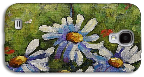 Canadiens Paintings Galaxy S4 Cases - Top Of The Bunch Daisies by Prankearts Galaxy S4 Case by Richard T Pranke
