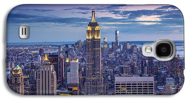City Scape Galaxy S4 Cases - Top of the World Galaxy S4 Case by Marco Crupi