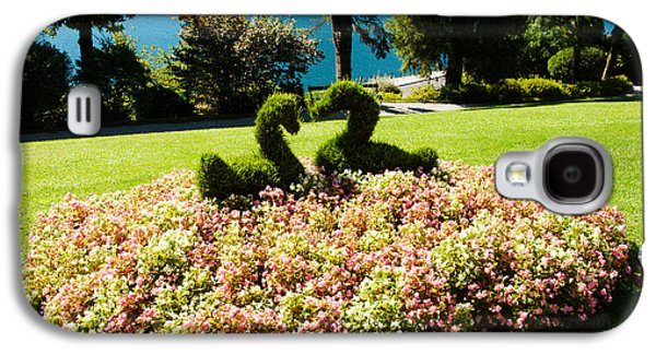 Garden Scene Galaxy S4 Cases - Topiary And Flower Bed In A Garden Galaxy S4 Case by Panoramic Images