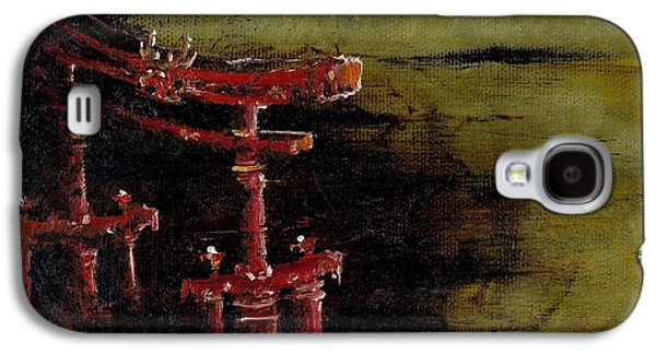 Rivets Paintings Galaxy S4 Cases - Torii Galaxy S4 Case by Julio R Lopez Jr