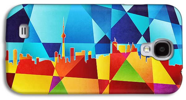 Abstract Geometric Galaxy S4 Cases - Toronto Canada Skyline Galaxy S4 Case by Michael Tompsett