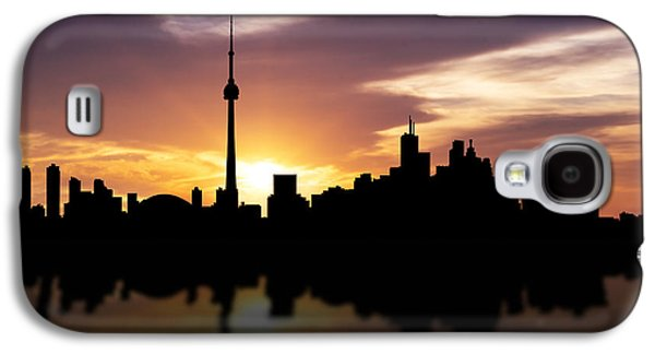 Financial Mixed Media Galaxy S4 Cases - Toronto Canada Sunset Skyline  Galaxy S4 Case by Aged Pixel