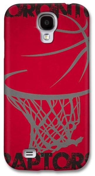 Raptors Galaxy S4 Cases - Toronto Raptors Hoop Galaxy S4 Case by Joe Hamilton