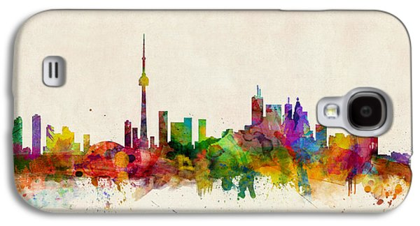 City Digital Art Galaxy S4 Cases - Toronto Skyline Galaxy S4 Case by Michael Tompsett