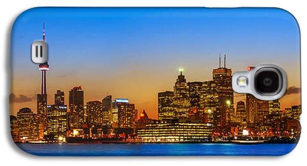 Light Galaxy S4 Cases - Toronto Skyline Panorama Galaxy S4 Case by Sebastian Musial