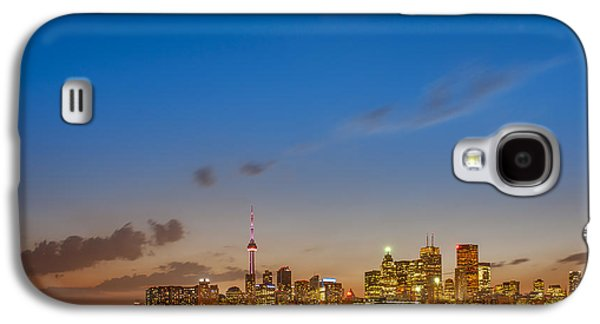 Man Cave Photographs Galaxy S4 Cases - Toronto Skyline Galaxy S4 Case by Sebastian Musial
