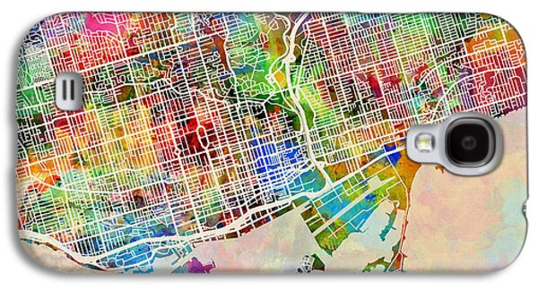 Urban Street Galaxy S4 Cases - Toronto Street Map Galaxy S4 Case by Michael Tompsett