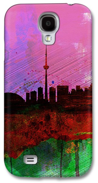 Architectural Digital Art Galaxy S4 Cases - Toronto Watercolor Skyline Galaxy S4 Case by Naxart Studio