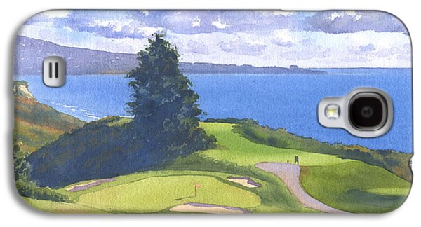 Pine Paintings Galaxy S4 Cases - Torrey Pines Golf Course 1 Galaxy S4 Case by Mary Helmreich