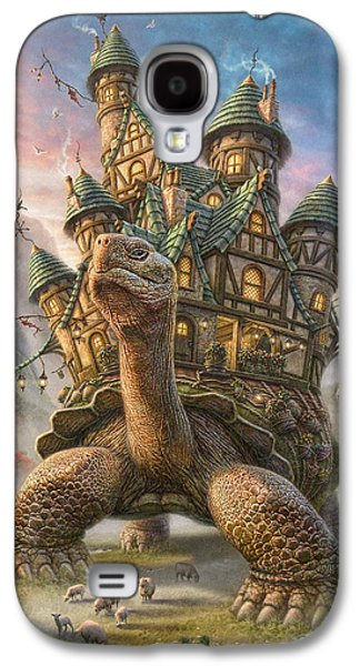 Sun Mixed Media Galaxy S4 Cases - Tortoise House Galaxy S4 Case by Phil Jaeger