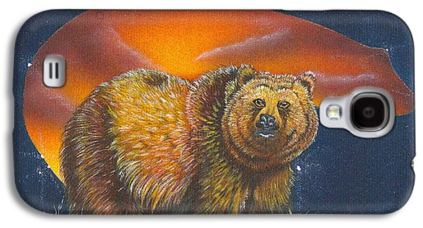 Constellations Paintings Galaxy S4 Cases - Totem Bear- spirit of Oso Galaxy S4 Case by Kathy Herdzina