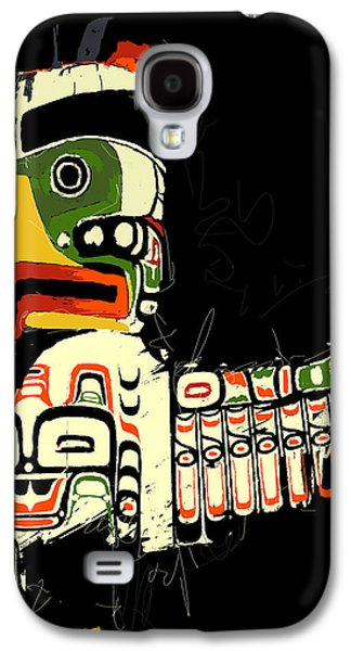 Whistler Paintings Galaxy S4 Cases - Totem Pole 01 Galaxy S4 Case by Catf