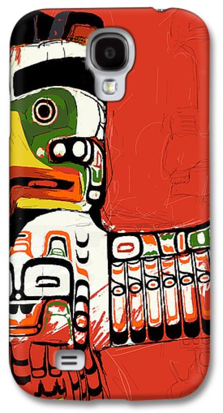 Whistler Paintings Galaxy S4 Cases - Totem Pole 02 Galaxy S4 Case by Catf