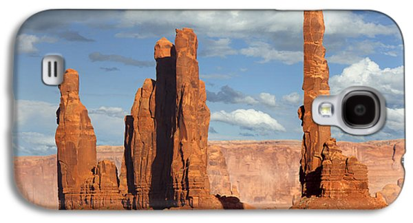 Park Scene Digital Galaxy S4 Cases - Totem Pole - Monument Valley Galaxy S4 Case by Mike McGlothlen