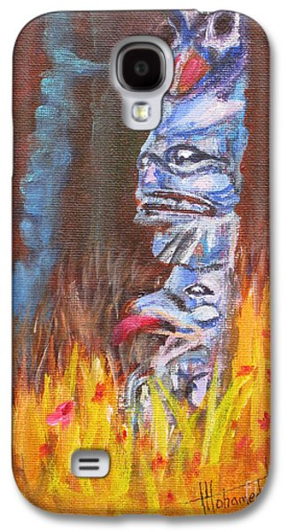 Tribe Paintings Galaxy S4 Cases - Totems Of Haida Gwaii Galaxy S4 Case by Mohamed Hirji